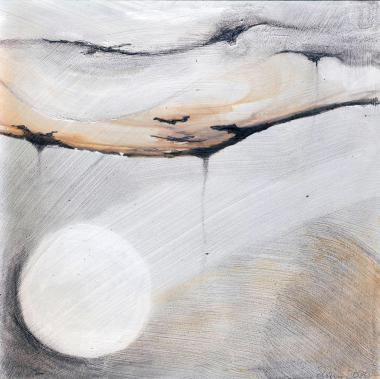 © Miriam Eva Hofmann, Abstract #1, Acryl, Graphit, 2020, 17x17cm