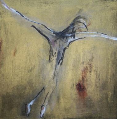 © Miriam Eva Hofmann, Fly away, Acryl auf Holz, 2014