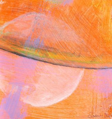 © Miriam Eva Hofmann, Phantasm landscape #16, Acryl auf Papier, 2020, ca.8x8cm