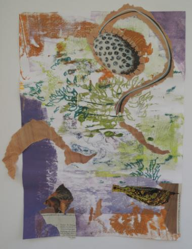 Monotypie/ Collage              Bettina Specht
