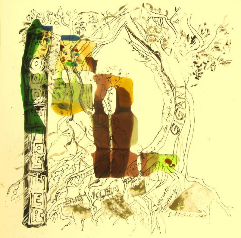 Das Werk zeigt die Vernetzung des Waldes mit seiner einzigartigen Kommunikationsstruktur