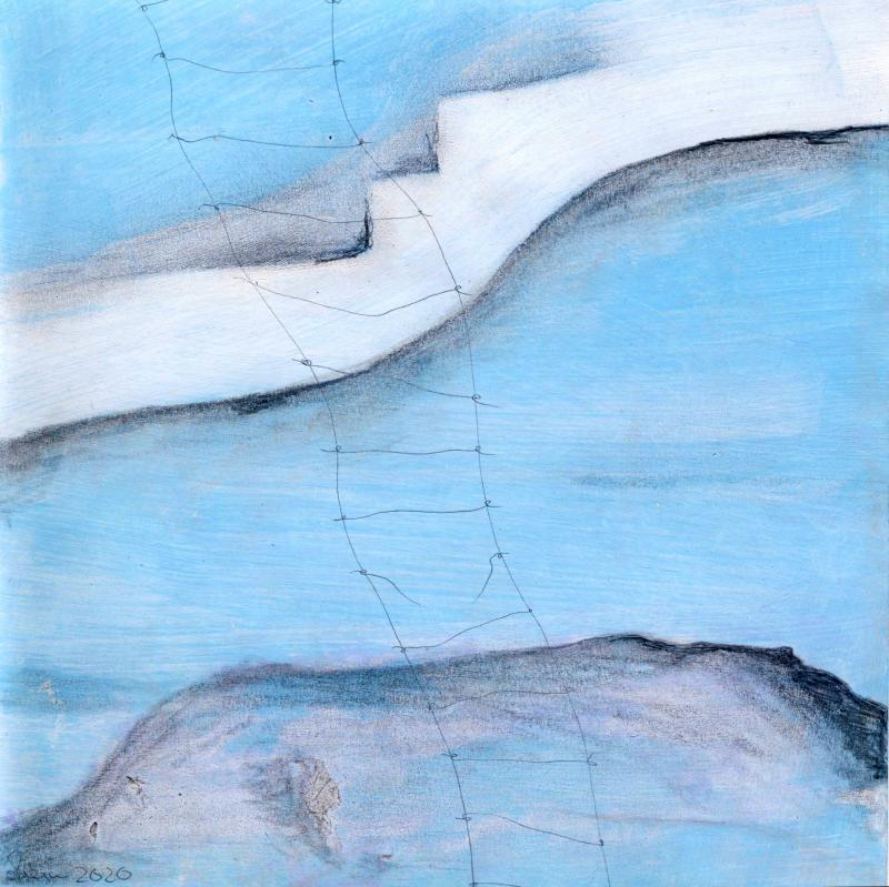 © Miriam Eva Hofmann, Abstract #12, Acryl, Graphit, 2020, 17x17cm